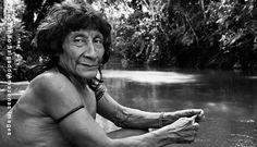 Pirama´a sentado próximo ao rio Caru. Ele é um dos mais importantes caçadores da Aldeia Juriti(Foto Sebastião Salgado)