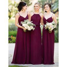 Image result for burgundy bridesmaid dresses
