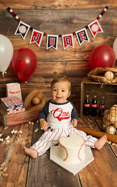 Rookie of the Year FIRST BIRTHDAY BANNER. Perfect for a baseball first birthday for a birthday boy. Makes a great highchair banner Your baby boy is without a doubt the ROOKIE OF THE YEAR! Let us help you celebrate his birthday with one of our perso Baseball Theme Birthday, Boys First Birthday Party Ideas, 1st Birthday Pictures, Birthday Themes For Boys, Baby Boy First Birthday, First Birthday Banners, Boy Birthday Parties, Happy Birthday, Birthday Month