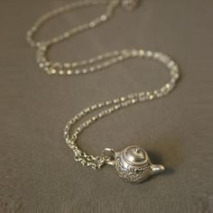 Teapot Necklace Silver now featured on Fab.