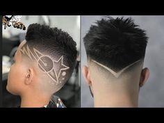 Boys Haircuts With Designs, Hair Designs For Boys, Haircut Designs For Men, Cool Hair Designs, Mens Haircuts Short Hair, Undercut Long Hair, Cut My Hair, One Hair, Haare Tattoo Designs