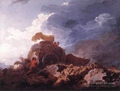 Jean Honore Fragonard,The Storm oil painting reproductions for sale