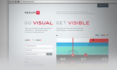 Resumup.com by Alex Bystrov, via Behance