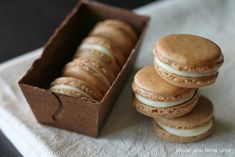 White Chocolate Ganache Filled Gingerbread Macarons - Dessert Now, Dinner Later!