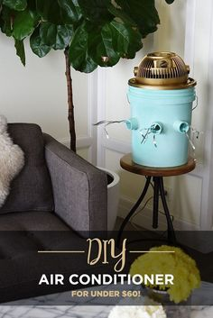 How To Make A DIY Air Conditioner That Will Actually Keep You Cool. Labor Junction / Home Improvement / House Projects / DIY / Cooling / House Remodels / www. Diy Air Conditioner, Bucket Air Conditioner, Homemade Conditioner, Homemade Shampoo, Diy Ac, Ideias Diy, Beat The Heat, Diy House Projects, Diy Solar