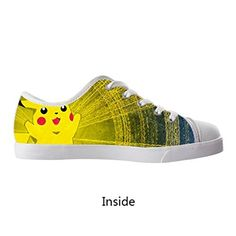 Pokemon Pikachu Custom Boy/Girl Kids Canvas Shoes Lace Up Low Top Breathable Sneakers – Pokemon Canvas Shoes