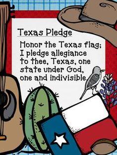 Texas Pledge FREEBIE - Oh' Boy 4th Grade - TeachersPayTeachers.com