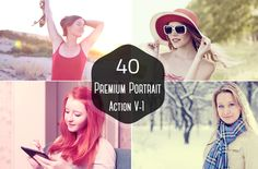 40 Premium Portrait Photoshop Action by Symufa on Creative Market