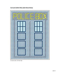 Doctor Who Plastic Canvas TARDIS Tissue Box Cover Part 2