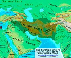 Map of the Parthian Empire Ancient Rome, Ancient History, Parthian Empire, Semitic Languages, Cradle Of Civilization, Achaemenid, Historical Maps, Countries Of The World, World History