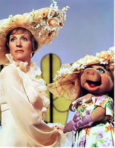 Miss Piggy and Julie Andrews
