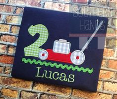 Lawn Mower Birthday Tee with Personalization by SouthernHandsLLC