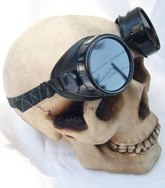 85f15f8276 STEAMPUNK GOGGLES - Basic Black Vintage-Look DIY (Do-It-Yourself) Goggles  with Replaceable Lenses. Steampunk MotorcycleMotorcycle ...