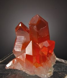 Orange-red Quartz - Orange River, North Cape Province, Northern Cape Province, South Africa