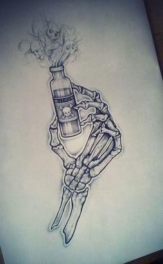 Garrafa mortal - Ordem Tatuagem no Behance