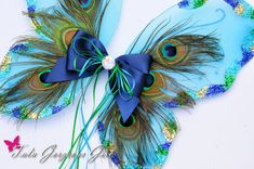 Turquoise Peacock Wings...Peacock Costume by TutuGorgeousGirl, $25.00