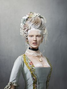 "The Rijksmuseum in Amsterdam has launched ""Catwalk,"" the first exhibition of its vast fashion collection, designed by the renowned photographer Erwin Olaf. Erwin Olaf, Rococo Fashion, Fashion Art, Fashion History, 18th Century Dress, Carmen Miranda, Catwalk Fashion, Jolie Photo, Historical Costume"