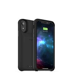 6.1 inch Display Black 4000 mAh Extra Battery Power Thin Slim with Smart Invisible Stander Premium Full Protection Battery Case Compatible with iPhone XR