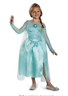 elsa costume, halloween costume, elsa. frozen, frozen costume, dress up, kids, gifts for kids