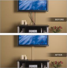 Can't hide TV wires in the wall? Here is the easiest way ...