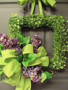 Front Door Wreath Summer Wreath Door Wreath by PeriwinkleSilks