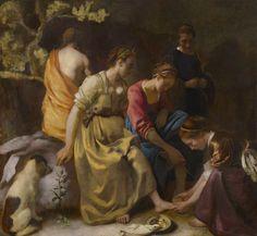 Johannes Vermeer, Diana e le sue ninfe, 1653-1654 circa   See more at:  http://www.tripartadvisor.it/il-mito-della-golden-age-vermeer-rembrandt/