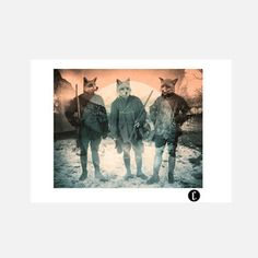 Fox Hunt Print 70x100, now featured on Fab.