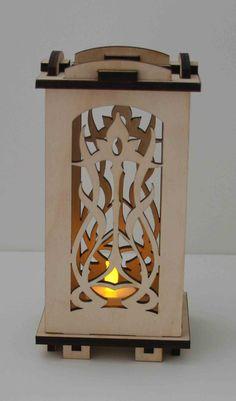 laser cut Wood LuminarieTealight Lamp Floral Art by ellenstarr, $35.00