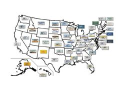 See how many different state license plates you can spot on your next trip or vacation. Free to download and print