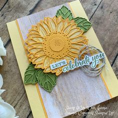 Sunflower Cards, Sunflower Flower, Cactus Flower, Wordpress, Die Cut Cards, Stamping Up Cards, Homemade Cards, Cardmaking, Stampin Up