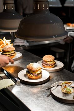 The beef burgers come in two forms, which one might refer to as highbrow (the Salvation Burger) and lowbrow (the Classic). (Photo: Emon Hassan for The New York Times)