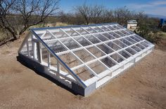 Greenhouse made with TUFTEX PolyCarb Clear panels near Tucson, Arizona.