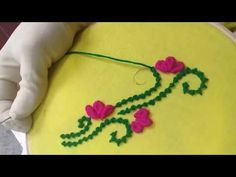 How to make stone stitch by hand embroidery? - YouTube