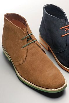 Men's Shoes - Next Tan Suede Green Sole Chukka Boot