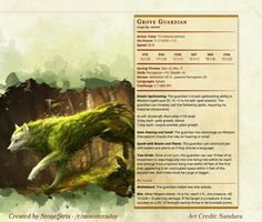 Grove Guardian for Forest setting