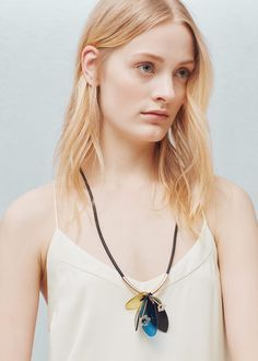 Long triple necklace   MANGO