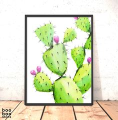 Cactus Print | Cactus Wall Art Decor | Cactus Poster | Cactus Modern Print | Prickly Pear Print | Cacti Tropical Wall Art | Gift for Friend by boobooskins on Etsy #cactus #cacti #succulent #plant #botanicalart #botanical #art #pricklypear #prick #sharp #fresh #dorm #beach #decor #home #orangery #modern #bright #vibrant #colour #color #green #lime