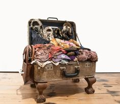 Thabo Pitso, 'The Emperor's New Clothes' Suitcase, clothes, shoes and fabric, x 54 x Emperors New Clothes, New Outfits, Suitcase, Sculpture, Fabric, Shoes, Fine Art Paintings, Tejido, Tela