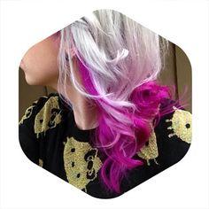 From my instagram : 4theloveoftoys : Sara Harvey #haircolor #clothing #hellokitty #saraharvey