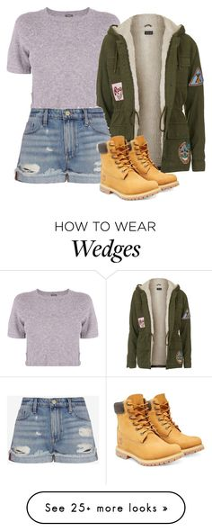 """Untitled #723"" by aralynwinchester on Polyvore featuring Monrow, Topshop, Frame Denim, Timberland, women's clothing, women's fashion, women, female, woman and misses"