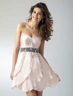 blush cocktail dress