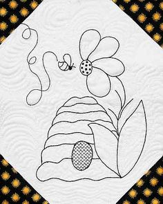 Beehive Quilt Pattern Free | Beez Designs for Hand Embroidery Pattern (E-Z Beez-y book included) at ...