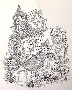 https://flic.kr/p/nUHEUn | Zentangle-inspired fairy houses