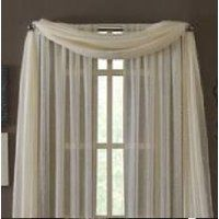 Biege (ivory off white) 8 Pcs. Sheer Voile Window Panel Solid Brand CURTAIN for sale online Window Sheers, Valance Window Treatments, Kitchen Window Treatments, Window Panels, Drapes Curtains, Window Scarf, Scarf Valance, Sheer Valances, Striped Room