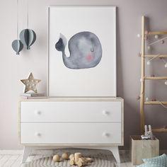 Gray Baby Whale Nursery Art Print Ocean Art Print, Watercolour Whale Print, Grey Whale Print, Watercolour Whale Art, Baby Animal Art - - My Website 2020 Baby Boy Room Decor, Baby Bedroom, Baby Boy Rooms, Baby Boy Nurseries, Whale Nursery, Baby Whale, Nursery Room, Watercolor Whale, Baby Art