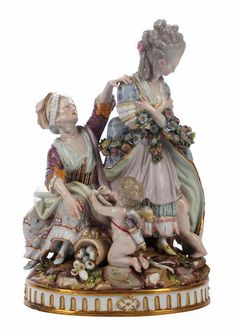 A Meissen group of 'The Broken Eggs', second half 19th century