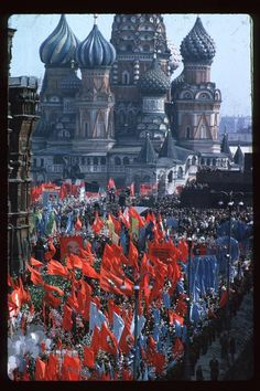 Moscow, 1963. May Day parade in Red Square.