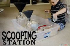 Scooping Station for busy toddlers