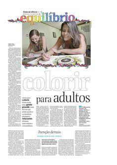 Título: Colorir para adultos. Veículo:Folha de São Paulo. Data: 15/04/2015. Cliente: Editora Alaúde