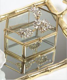 Hexagon Glass Jewelry Box | Emily McCarthy Shoppe